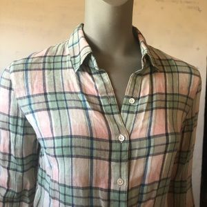 James Perse Tops - James Perse Luxury Pink Soft Flannel Shirt